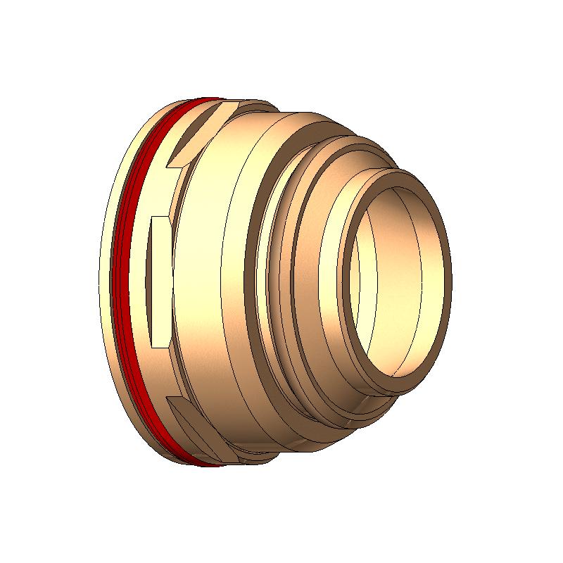 Image swirl gas nozzle T522, twist-proof